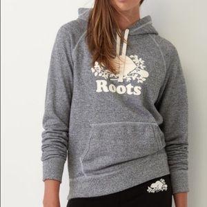 ROOTS Salt + Pepper Hooded Sweater, S